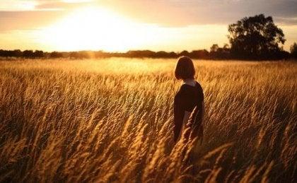 mujer-en-campo-de-trigo-viendo-atardecer