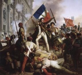 rc3a9volution_de_1830_-_combat_devant_lhc3b4tel_de_ville_-_28-07-1830