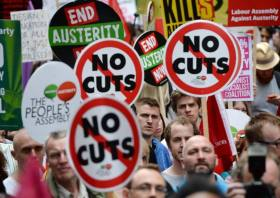 London anti-austerity march