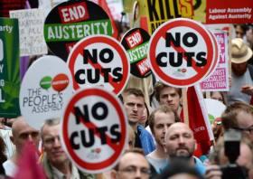 London anti-austerity march