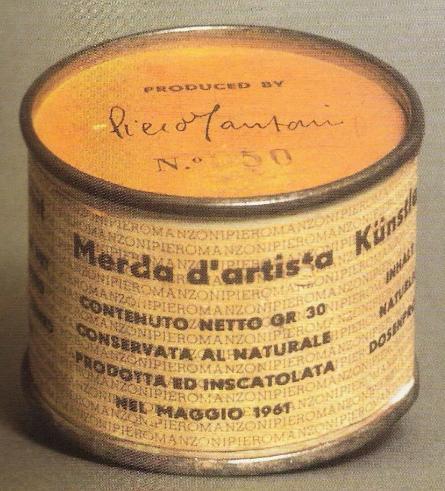 Manzoni, Mierda de artista, 1961